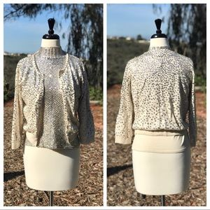 Holiday Sweater Set, Silver Sequins